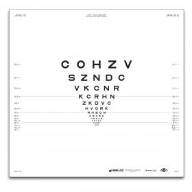 """ETDRS """"2000"""" – SLOAN-Buchstaben, Tafel """"1"""" COHZV (2 m)"""