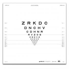 "ETDRS ""2000"" – SLOAN-Buchstaben, Tafel ""2"" ZRKDC (2 m)"