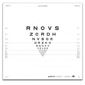 "ETDRS ""2000"" – SLOAN-Buchstaben, Tafel ""3"" RNOVS (2 m)"