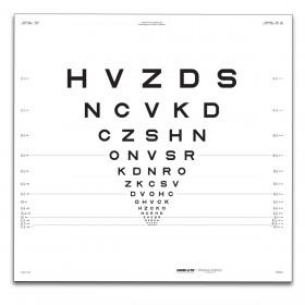 "ETDRS-Originalserie 3 m – SLOAN-Buchstaben, Tafel ""R"" HVZDS"