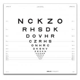 "ETDRS-Originalserie 3 m – SLOAN-Buchstaben, Tafel ""1"" NCKZO"