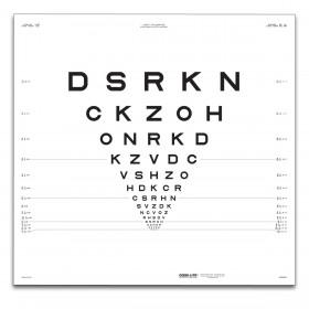 "ETDRS-Originalserie 3 m – SLOAN-Buchstaben, Tafel ""2"" DSRKN"