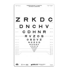"""SLOAN-Buchstaben – Lichtdurchlässige Sehtafel Nähe, Tafel """"2"""", 80 cm"""