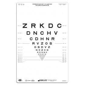 """SLOAN-Buchstaben – Lichtdurchlässige Sehtafel Nähe, Tafel """"2"""", 66 cm"""