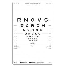 """SLOAN-Buchstaben – Lichtdurchlässige Sehtafel Nähe, Tafel """"3"""", 66 cm"""