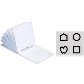 LEA™-Einzelringbuch – Symbole mit Crowding-Umrandung, 2,5 % Kontrast