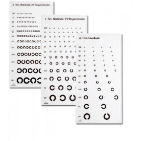 C-Test Ferne (1 Tafel, Reihen-LR mit 2,6' Abstand, 5 m)