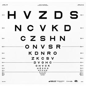 "ETDRS-Originalserie Tafel ""R"" – SLOAN-Buchstaben (4 m)"