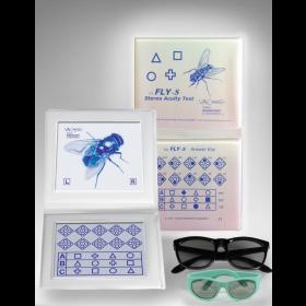 """VAC-Stereotest """"Fliege""""S  - Standardtest mit geometrischen Figuren"""