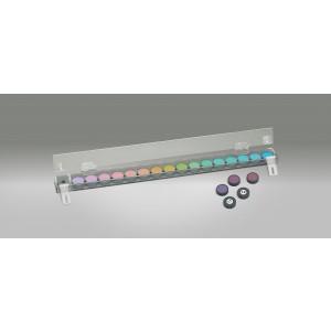 LEA Panel 16 Farbtest in Klarsichtbox, große Farbflecke (Ø 3,3 cm)