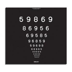 Super Pinhole Macula Tafel, LEA Zahlen 1,5 m