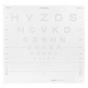 ETDRS Kontrasttafel - SLOAN Buchstaben 5.00 %, 4 m