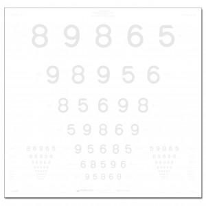 ETDRS-Kontrasttafel, LEA Zahlen 2,5 %, 4 m