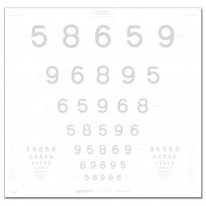 ETDRS-Kontrasttafel, LEA Zahlen 10 %, 4 m
