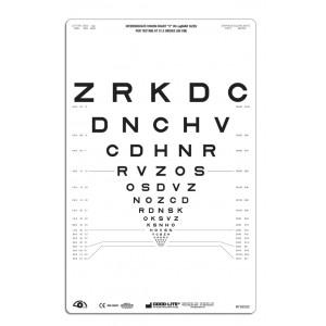 """SLOAN Buchstaben-Tafel """"2"""", lichtdurchlässig 80 cm"""
