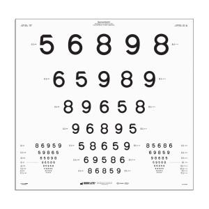 """ETDRS LEA Zahlen-Tafel Tafel """"A"""", 4 m"""