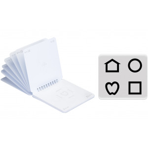 LEA™-Ringbuch Symbole mit Crowding-Umrandung und 2,5 % Kontrast