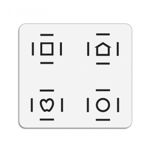 LEA™-Symbole Antworttafel mit Crowding-Umrandung