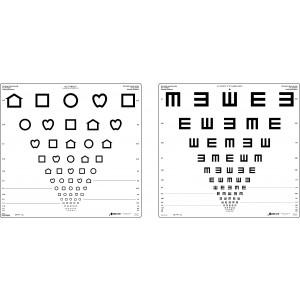 Screeningtafel 4 m / 5 m LEA Symbole/E-Haken (dezimal)