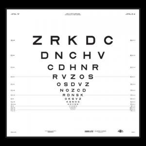 """ETDRS """"2000"""" Sloan-Buchstaben, Tafel """"2"""""""