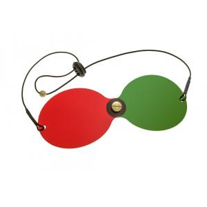 Rot/Grün-Wendebrille, gebogen