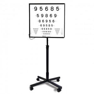 ETDRS-Lichtkasten ESC 2000Set, ESC 2000, 3 ETDRS-Tafeln (Originalserie, 4 m) und Fuß