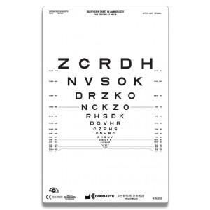 Lichtdurchlässige Sehtafel SLOAN-Buchstaben (66 cm)